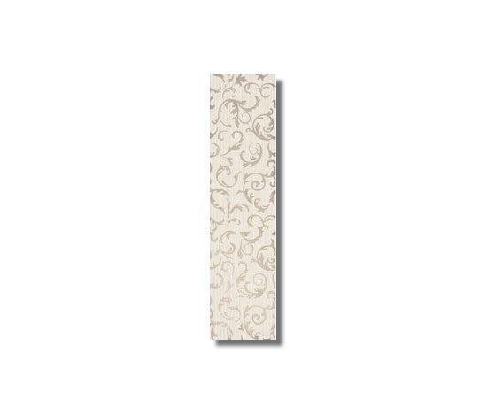 Satin Decoro Baroque Blanc Carreau de Refin | Carrelage mural
