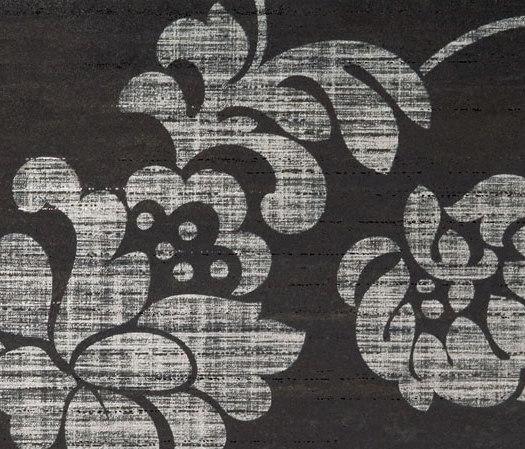 Stile Damasco Nero Tile de Refin | Azulejos de pared