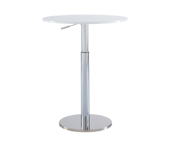 Bobine | Table Top White Lacquered Glass by Ligne Roset | Dining tables