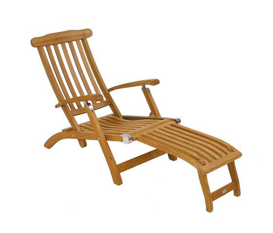 Flores steamer chair di Fischer Möbel | Sdraio da giardino