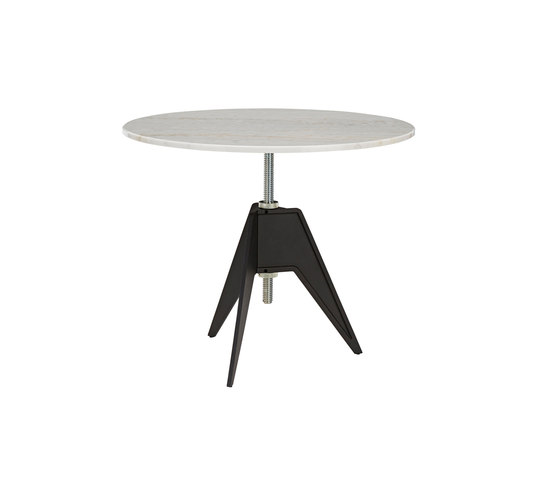Screw Cafe Table White Marble Top 900mm de Tom Dixon | Mesas comedor