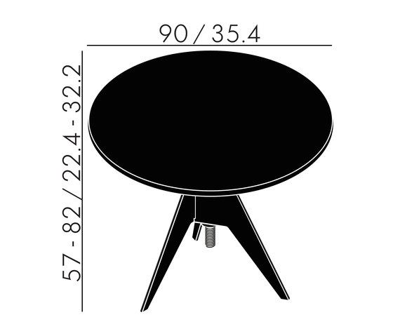 Screw Cafe Table White Marble Top 900mm de Tom Dixon | Mesas para restaurantes