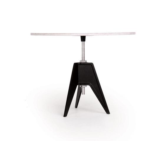 Screw Table Large Round de Tom Dixon | Mesas para cafeterías