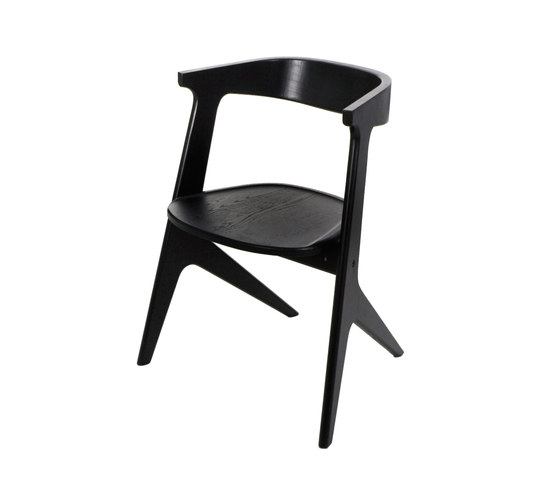 Slab Chair Black by Tom Dixon | Restaurant chairs