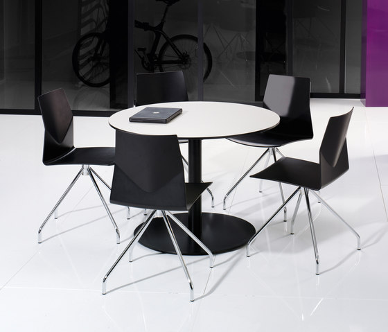 X12 Coloumn with circle foot base by Holmris B8 | Contract tables