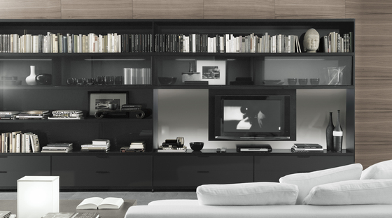 Cartesia by Rimadesio | Wall storage systems