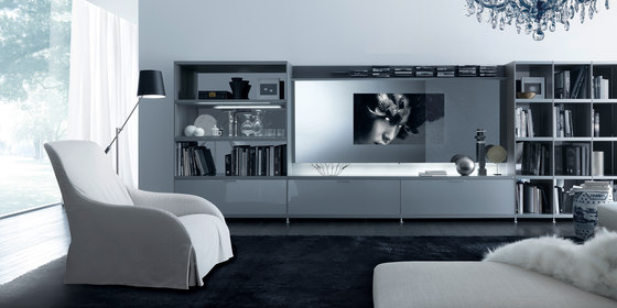 Cartesia home video by Rimadesio | Wall storage systems