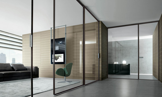 Spin slim de Rimadesio | Glass room doors