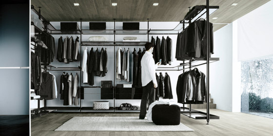 Zenit by Rimadesio | Walk-in wardrobes