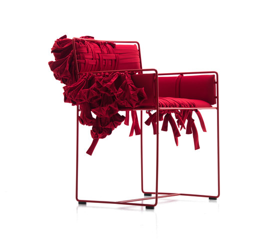 Valentina C small armchair with flower decoration by Baleri Italia by Hub Design | Chairs