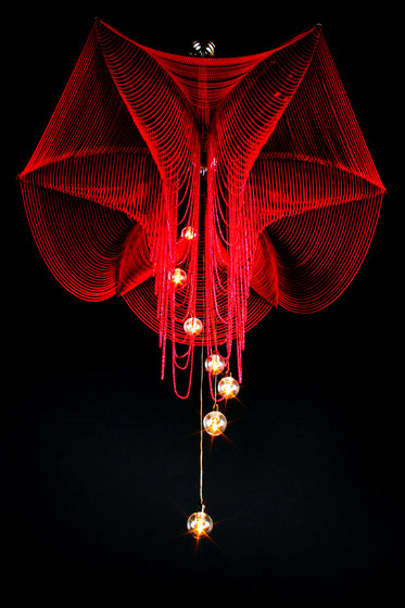 Fuschia - 1000 by Willowlamp | Suspended lights