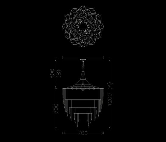 Protea - 700 - suspended von Willowlamp | Lichtobjekte