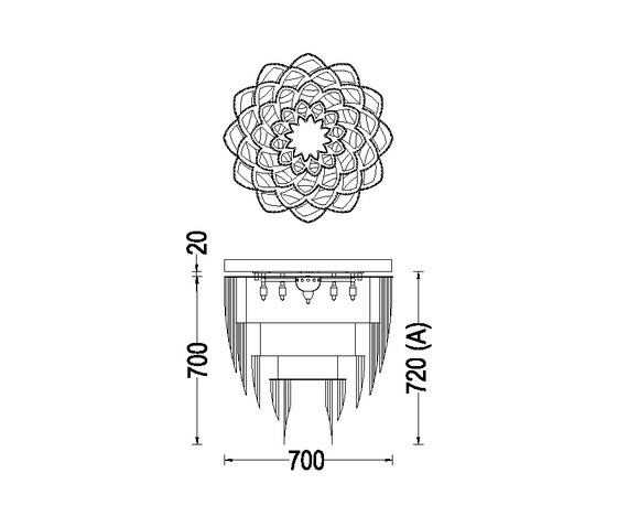 Protea - 700 - ceiling mounted by Willowlamp | General lighting