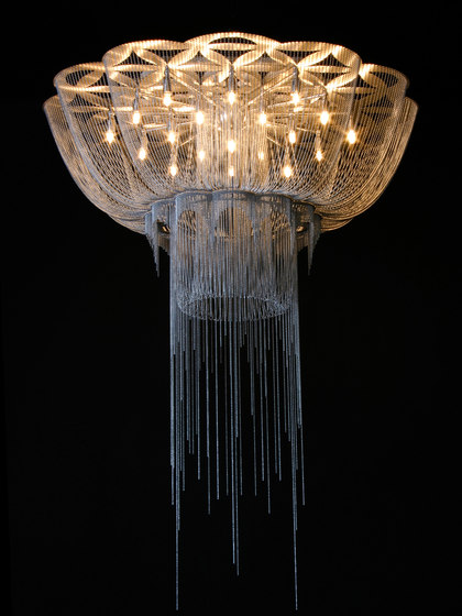 Flower of Life - 1000 - ceiling mounted by Willowlamp   Ceiling-mounted lights