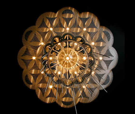 Flower of Life - 1000 - ceiling mounted by Willowlamp | General lighting