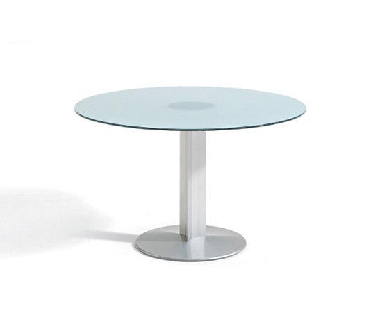 Circular base table by actiu | Cafeteria tables