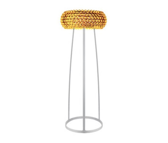 Caboche floor large yellow-gold by Foscarini | Free-standing lights