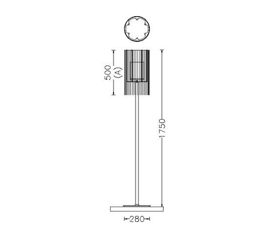 Circular Cropped 280 Standing Lamp by Willowlamp | General lighting