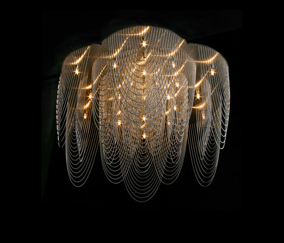 Rose - 700 - ceiling mounted - looped di Willowlamp | Lampade plafoniere