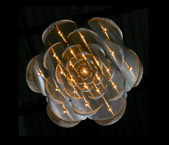Rose - 700 - suspended | option straight/looped by Willowlamp | Lighting objects