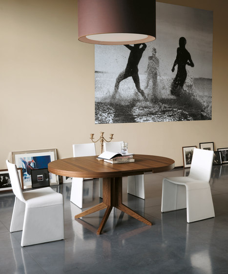Bryant tavolo tondo allungabile by Porada | Dining tables