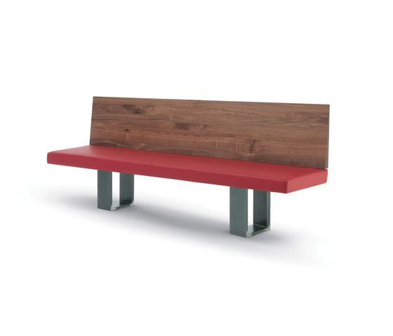 pin sitzbank mit lehne lederbank braun clara on pinterest. Black Bedroom Furniture Sets. Home Design Ideas