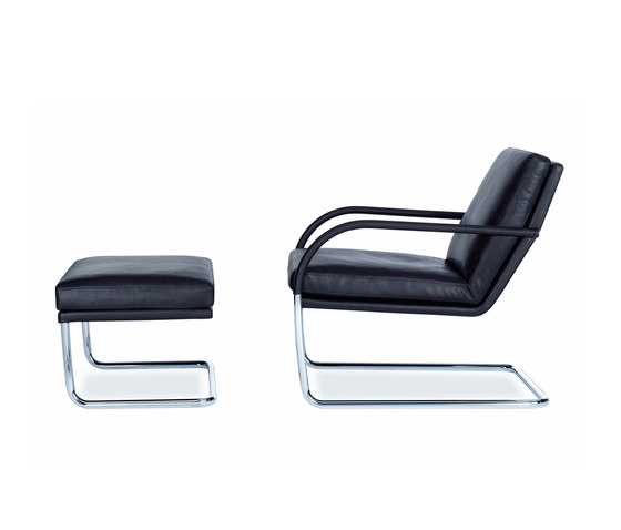 George Lounge Footstool & Armchair by Walter Knoll | Armchairs