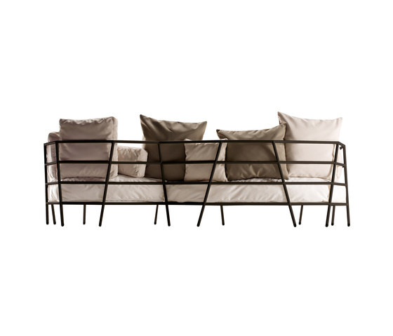 dehors outdoor 3-seater sofa 372 by Alias | Garden sofas