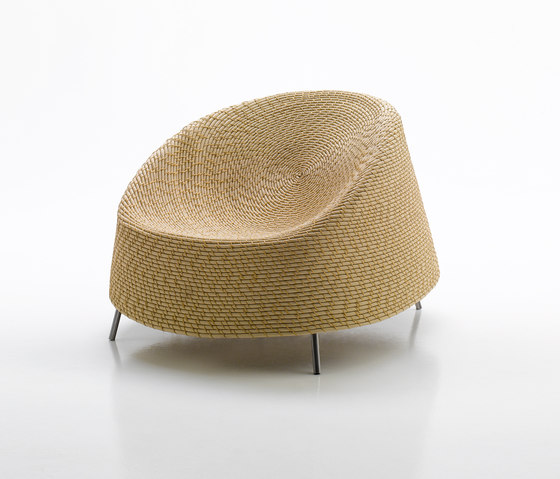 Afra by Paola Lenti | Garden armchairs