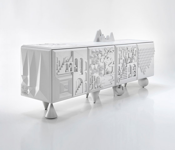 Tout va bien white by BD Barcelona | Sideboards