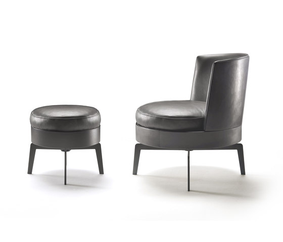 Feel Good swivel armchair/ottoman by Flexform | Lounge chairs