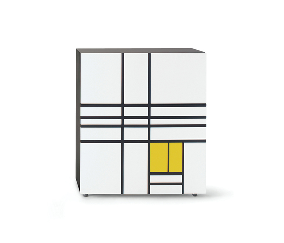 Homage to Mondrian 1 von Cappellini | Sideboards / Kommoden