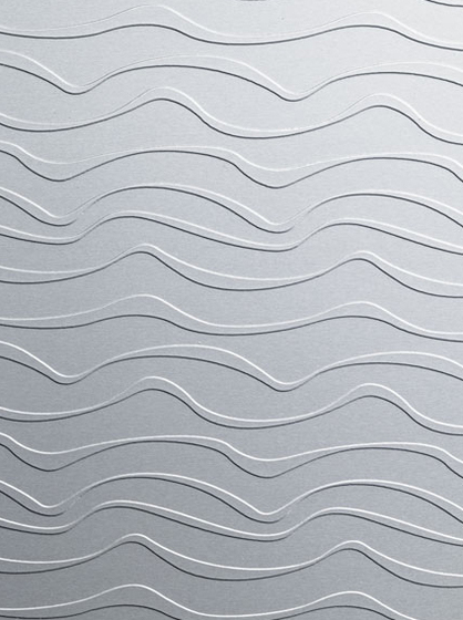820/924 Alu Matt La Ola horizontal von Homapal | Verbundwerkstoff Platten