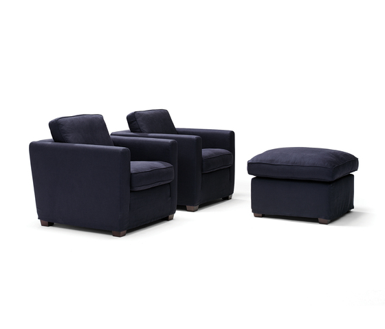 Easy Living armchair/footstool di Linteloo | Poltrone lounge