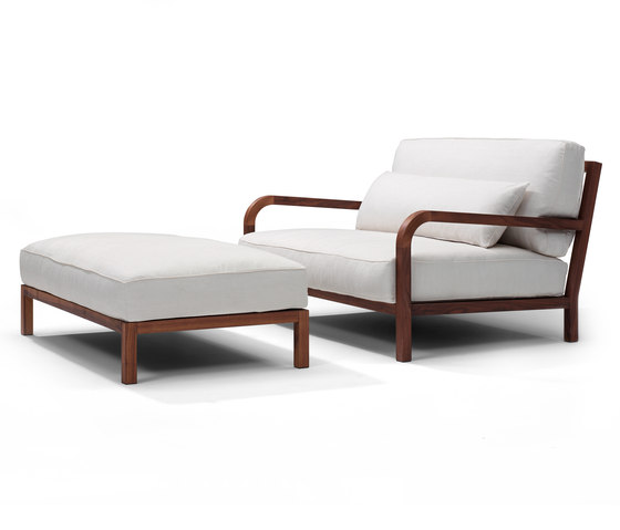 Dario armchair/footstool by Linteloo | Lounge chairs