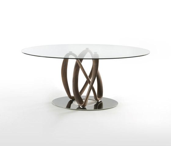 Infinity una base piano cristallo - ellittico di Porada | Tavoli pranzo