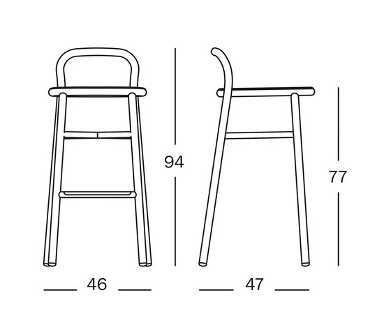 Pipe barstool by Magis | Bar stools