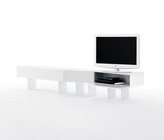 5 Blocks White by Opinion Ciatti   AV cabinets