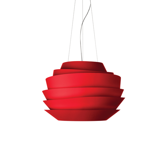 Le Soleil suspension red by Foscarini | General lighting