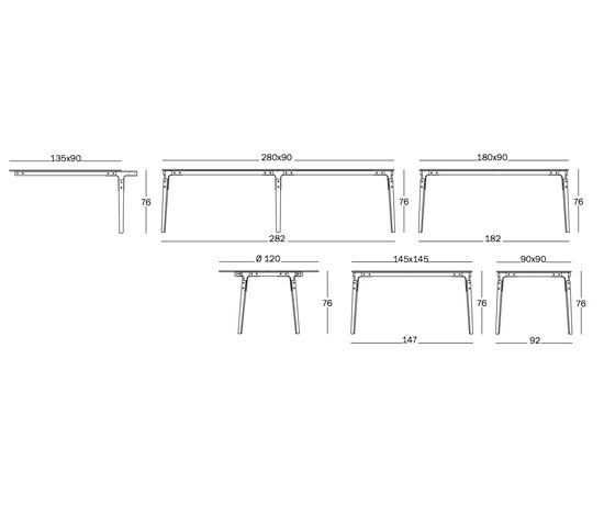 Steelwood Tavolo di Magis | Tavoli ristorante