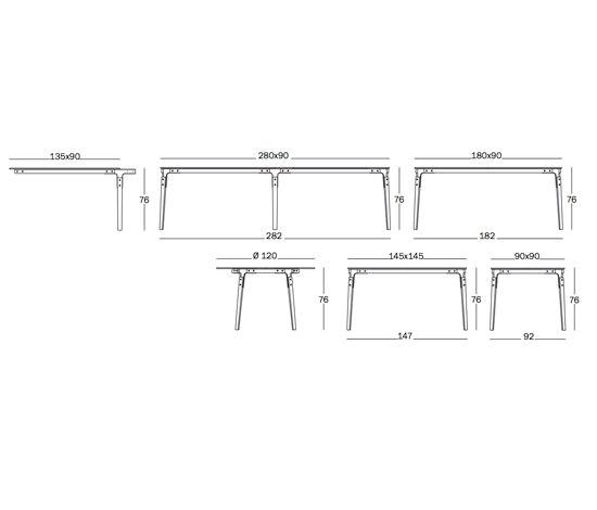 Steelwood Table de Magis | Tables de restaurant