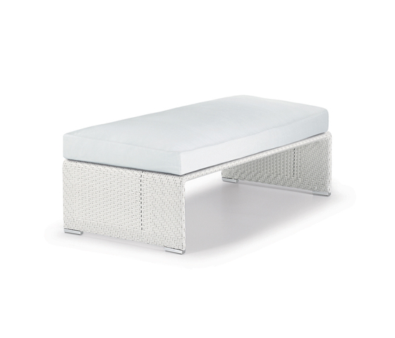Slim Line Footstool by DEDON | Garden stools