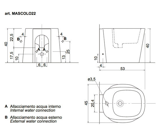 Mascolo 22 by antoniolupi | Bidets