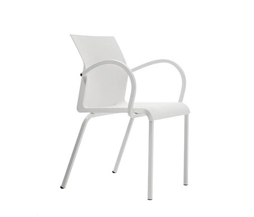 Iron Stacking Arm Chair by Segis | Chairs