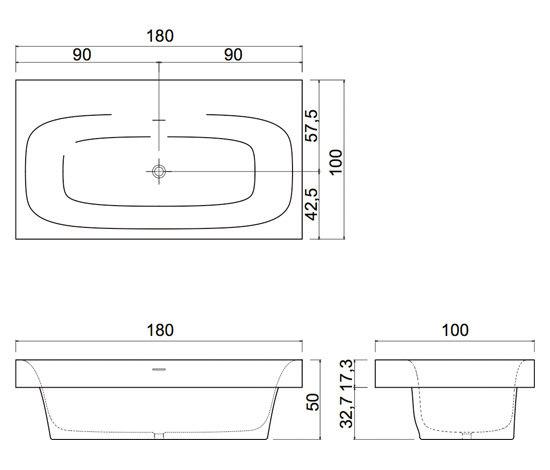 Sarto36 by antoniolupi   Built-in bathtubs