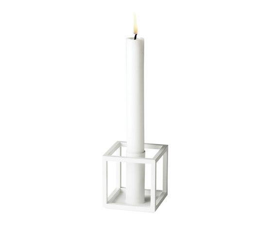Kubus 1 White by by Lassen | Candlesticks / Candleholder
