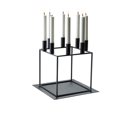 Base for Kubus 8 Black by by Lassen | Candlesticks / Candleholder