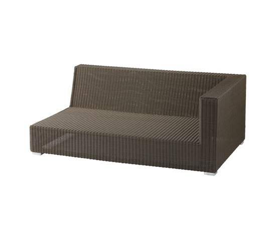Belmont 2-Seater Left Module Mocca by Cane-line | Garden sofas