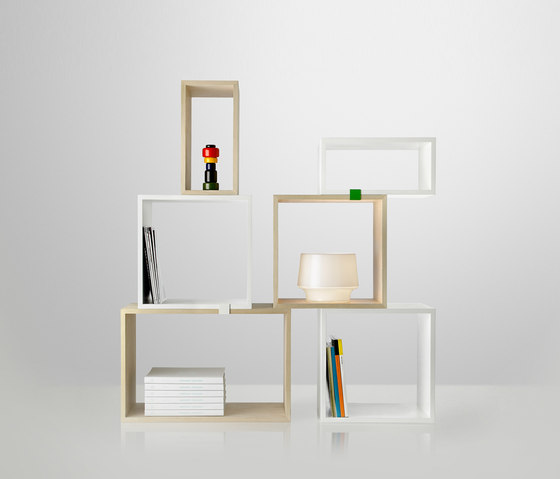Stacked Shelf System - oak* by Muuto | Room dividers