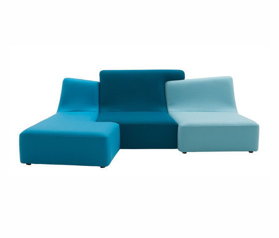 Confluences | Sofa 3 Plazas Derecho Version Multicolor de Ligne Roset | Sofás